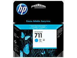 HP 711 80-ml Cyan DesignJet Ink Cartridge HP 711 80-ml Black DesignJet Ink Cartridge