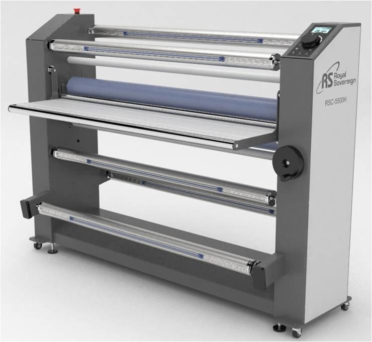 "55"" Heat Assist Top Roller Wide Format Roll Laminator RSC5500H"
